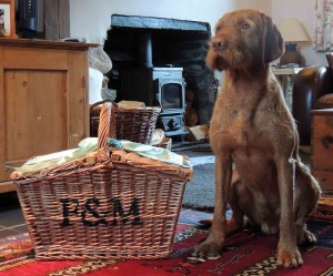 Fortnum & Mason goodies watched over by Ostor!